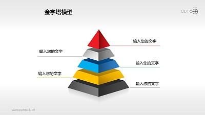 递进图示之五层金字塔PPT下载
