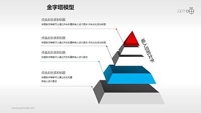 水晶风格悬浮五层金字塔PPT下载