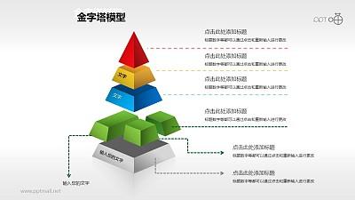 多彩分离型五层金字塔PPT下载