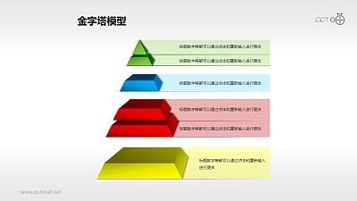 炫彩多层金字塔PPT模板下载