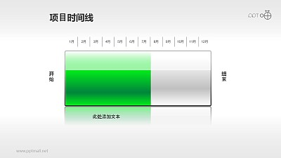 以电池充电表达项目进度的时间线素材(2)