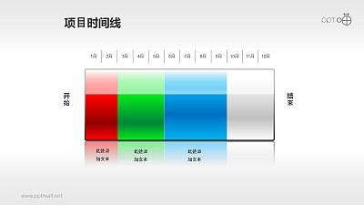 以电池充电表达项目进度的时间线素材(3)