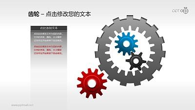 表达内部和外部因素协同作用的齿轮素材