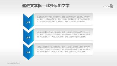 3部分递进关系的文本框素材下载