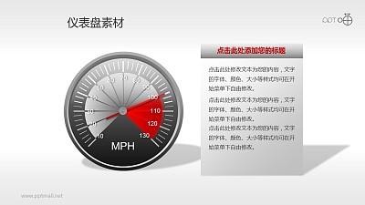 指针式仪表盘PPT素材(3)