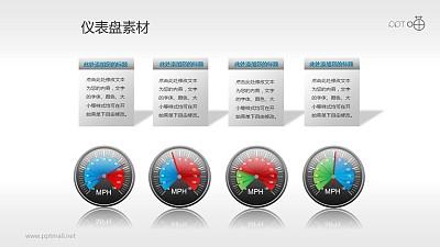 指针式仪表盘PPT素材(7)