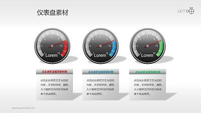 指针式仪表盘PPT素材(9)