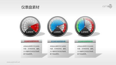 指针式仪表盘PPT素材(11)