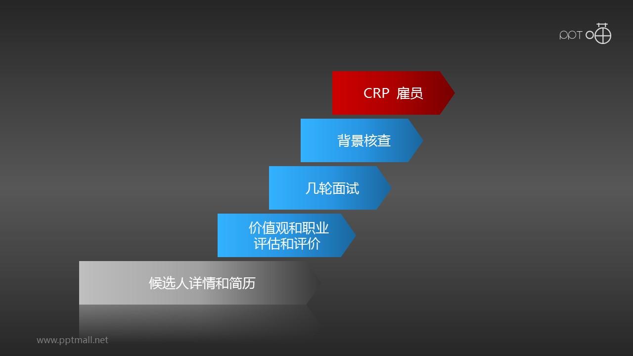 招聘流程——审评核查PPT模板