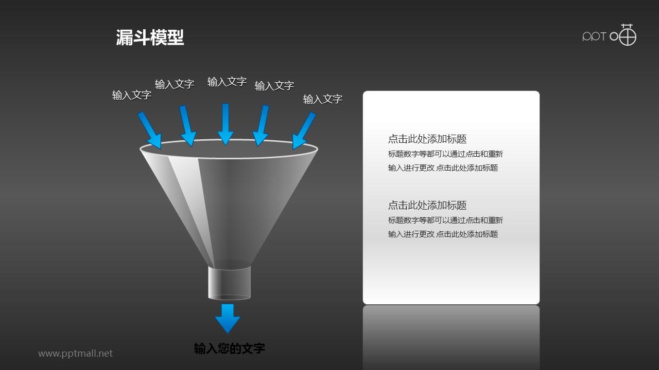 漏斗模型——过滤汇集PPT模板