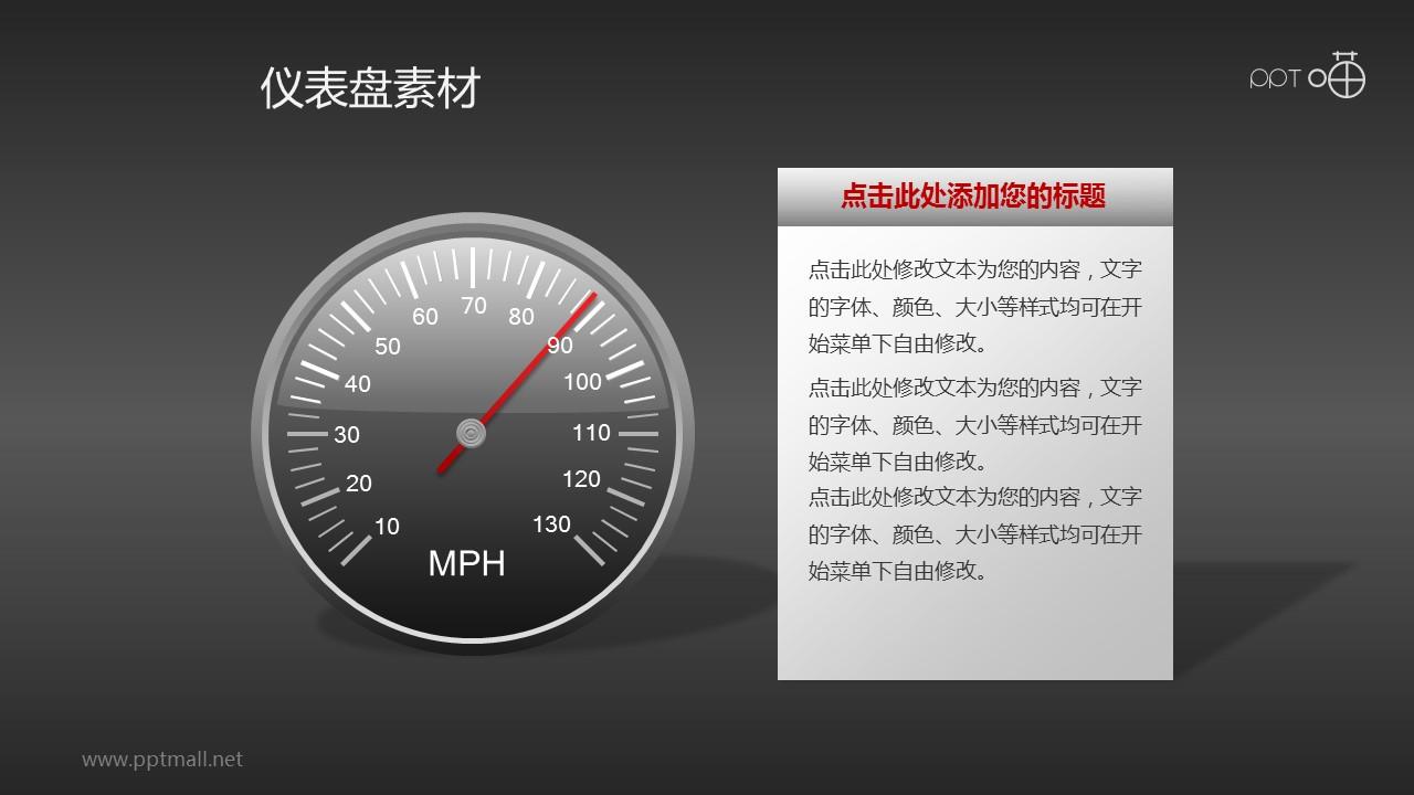 指针式仪表盘PPT素材(2)