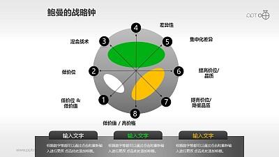 一套鲍曼的战略钟雷达图模型PPT下载