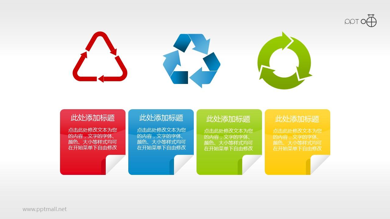 绿色环保PPT素材(5)—循环再生