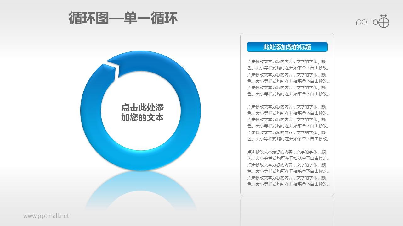 循环图系列PPT素材(1)—单一箭头循环