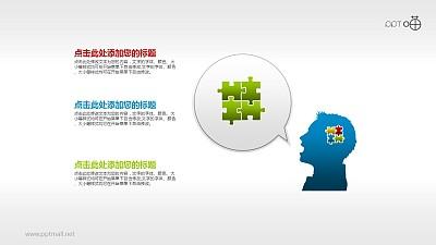 表达思维和语言的气泡对话框和人物剪影素材
