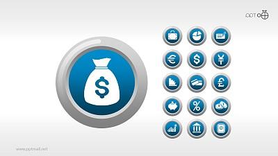 经济相关的符号logo素材PPT模板下载