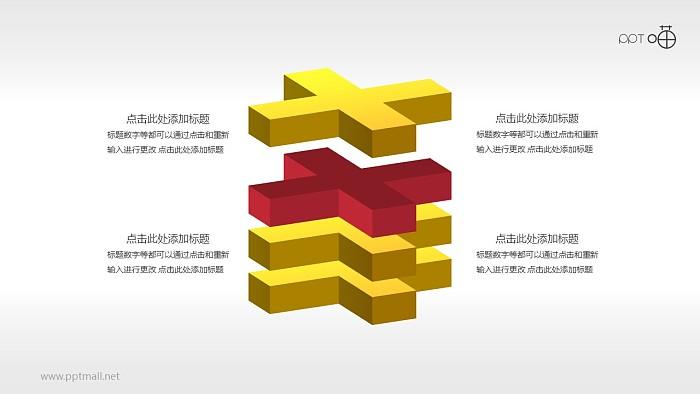 加号积木强调关系(系列1)PPT素材下载_幻灯片预览图1