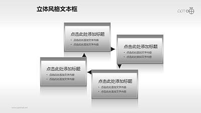 4部分循环的文本框PPT素材(17)