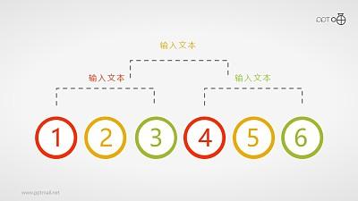 三层结构扁平化简约总分关系PPT素材
