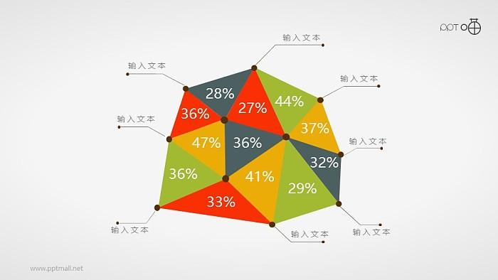 面积图PPT模板下载