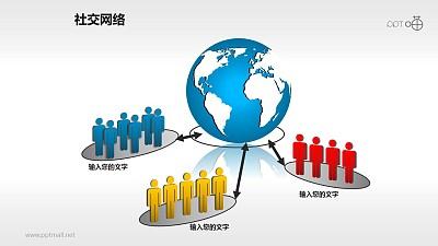 社交网络素材(8)-全球网络