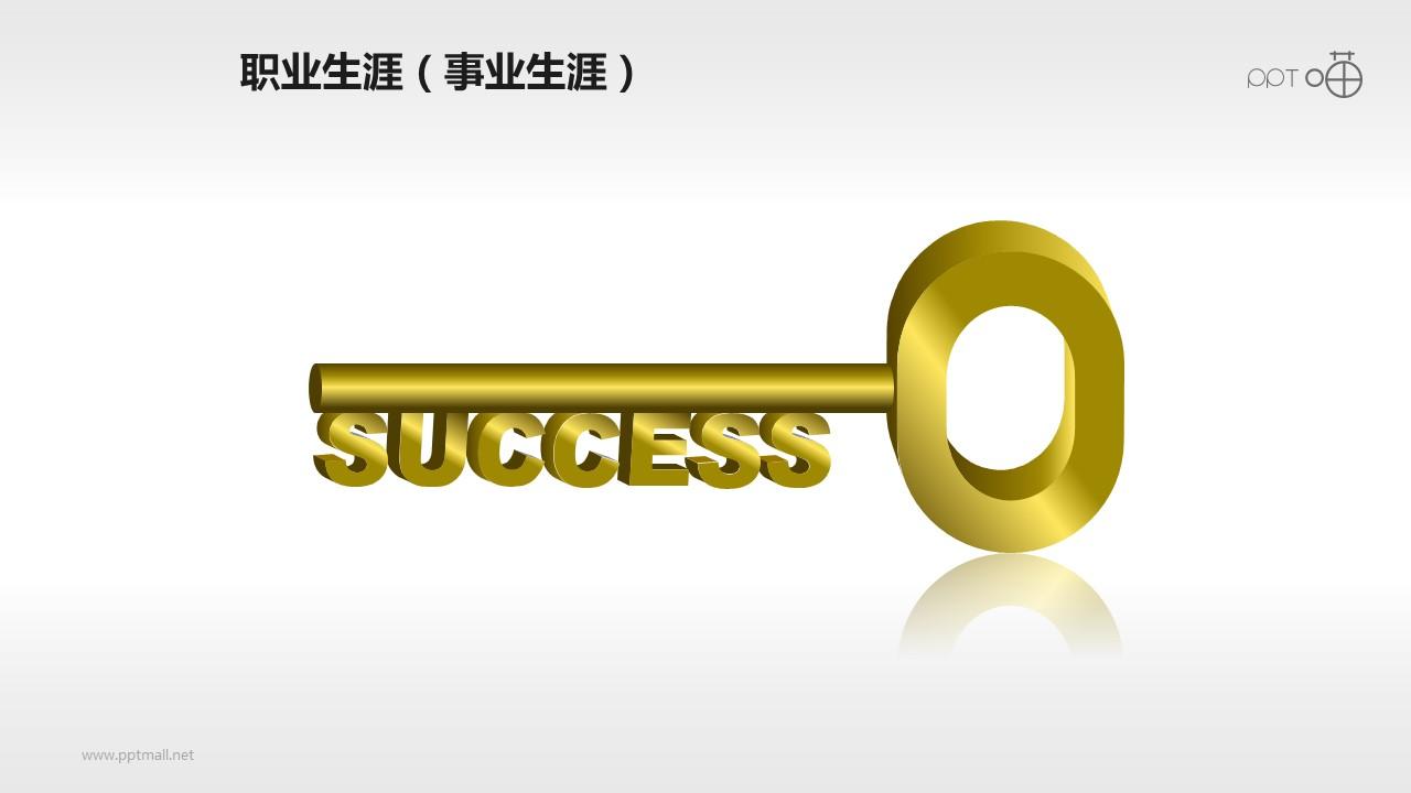 表达成功的金钥匙PPT素材