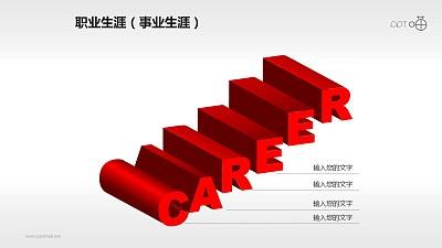 三维立体的英文单词CAREER(职业生涯)素材