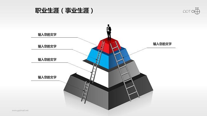 职业生涯PPT素材-屹立金字塔之巅_幻灯片预览图1
