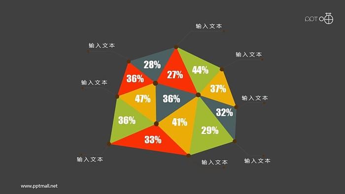 抽象的多彩风格面积图幻灯片模板下载_幻灯片预览图2