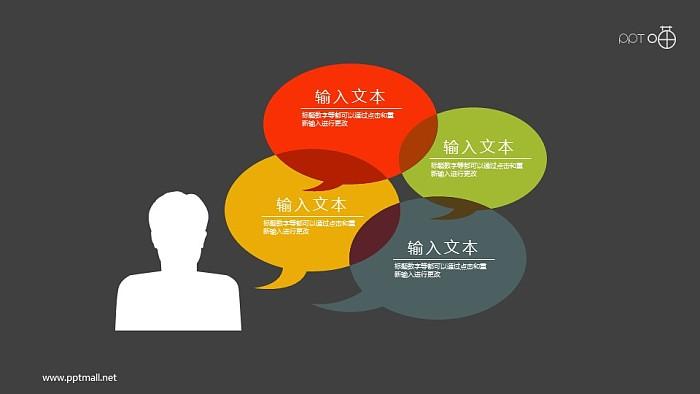 表达思维与交流的扁平化人像和气泡对话框素材_幻灯片预览图2