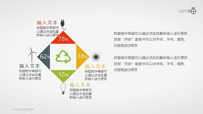 表达循环再生/清洁能源的扁平化图标素材
