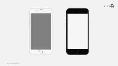 黑白两款iphone5s苹果手机高清PPT素材