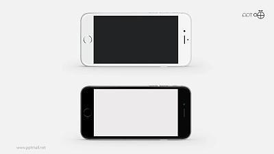 黑白两款iphone6/6s苹果手机高清PPT素材