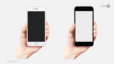 手持展示的黑白两款iphone6/6s手机高清素材