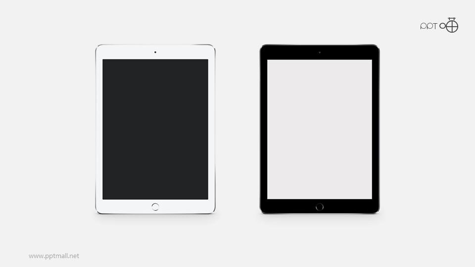 黑白两款苹果iPad高清素材