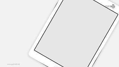 白色苹果iPad高清无背景图片素材