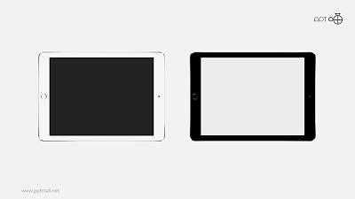 黑白两款苹果iPad高清无背景图片素材