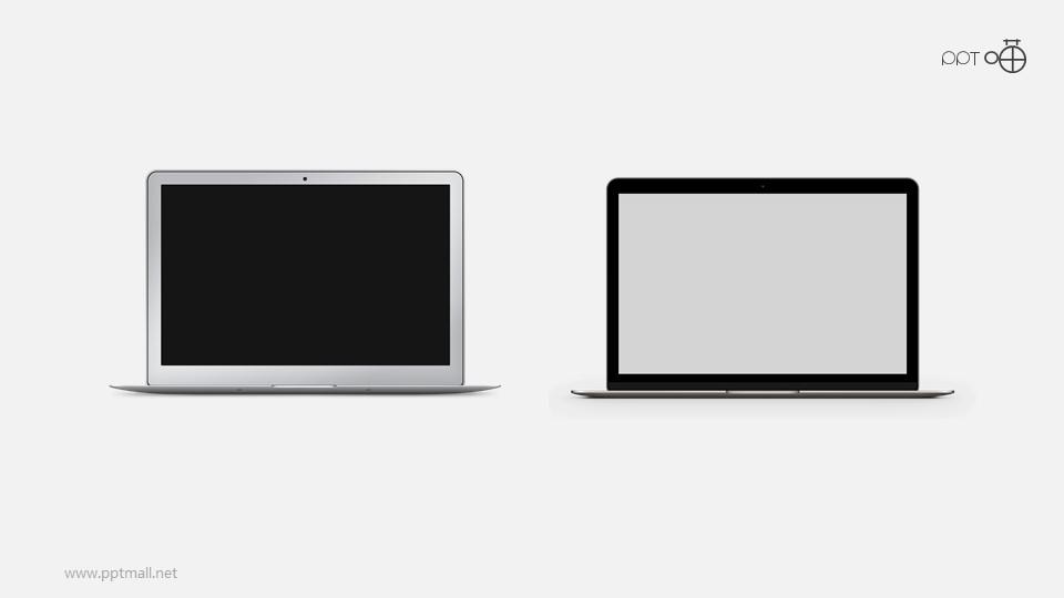 高清质感的苹果笔记本MacBook PPT素材