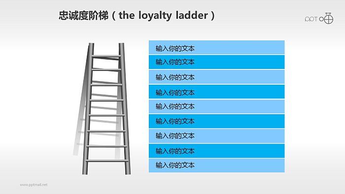 企业文化的忠诚度阶梯商务PPT素材(2)_幻灯片预览图1