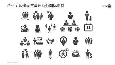 企业团队建设与管理商务图标素材