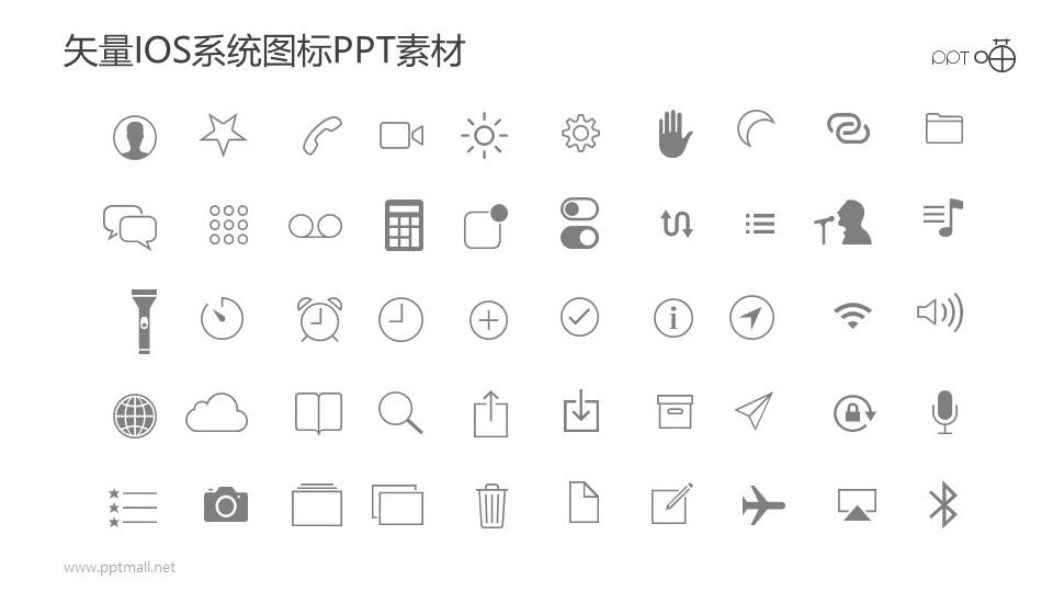 矢量IOS系统图标PPT素材