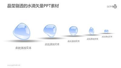 晶莹剔透的水滴并列关系示意图素材