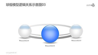 球棍模型逻辑关系示意图素材03