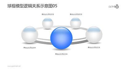 球棍模型逻辑关系示意图素材05