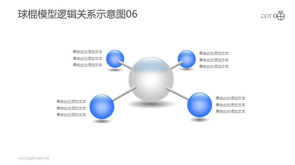 球棍模型逻辑关系示意图素材06
