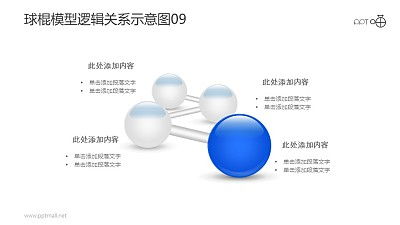 球棍模型逻辑关系示意图素材09