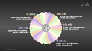 旋转花瓣样式示意图PPT模板可下载