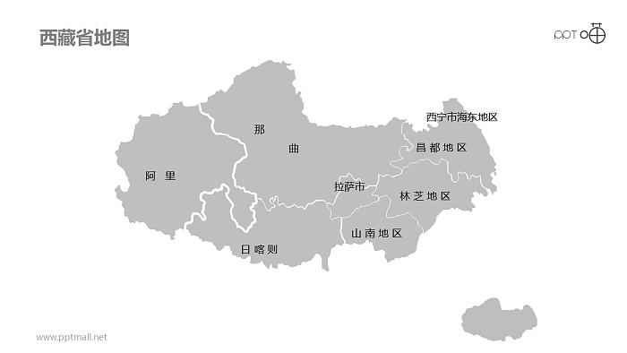 西藏PPT模板下载