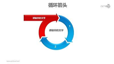 循环箭头之3部分箭头循环递进关系PPT模板素材