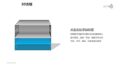 3D方框之4层方块叠加科幻风格PPT素材下载